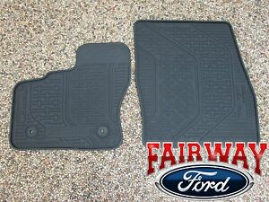 Thru Transit Connect OEM Genuine Ford Rubber All Weather Floor - Rubber connecting floor mats