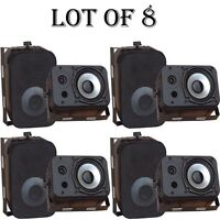 Lot Of (8) Pyle Pdwr40b 400 Watt 5.25 Indoor/outdoor Waterproof Speakers Black on sale
