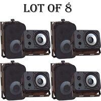 Lot Of (8) Pyle Pdwr40b 400 Watt 5.25 Indoor/outdoor Waterproof Speakers Black on sale