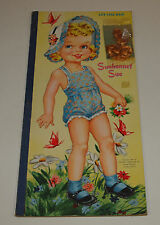 Vintage 1951 Whitman SUNBONNET SUE Life Like Hair Paper Dolls Uncut Complete