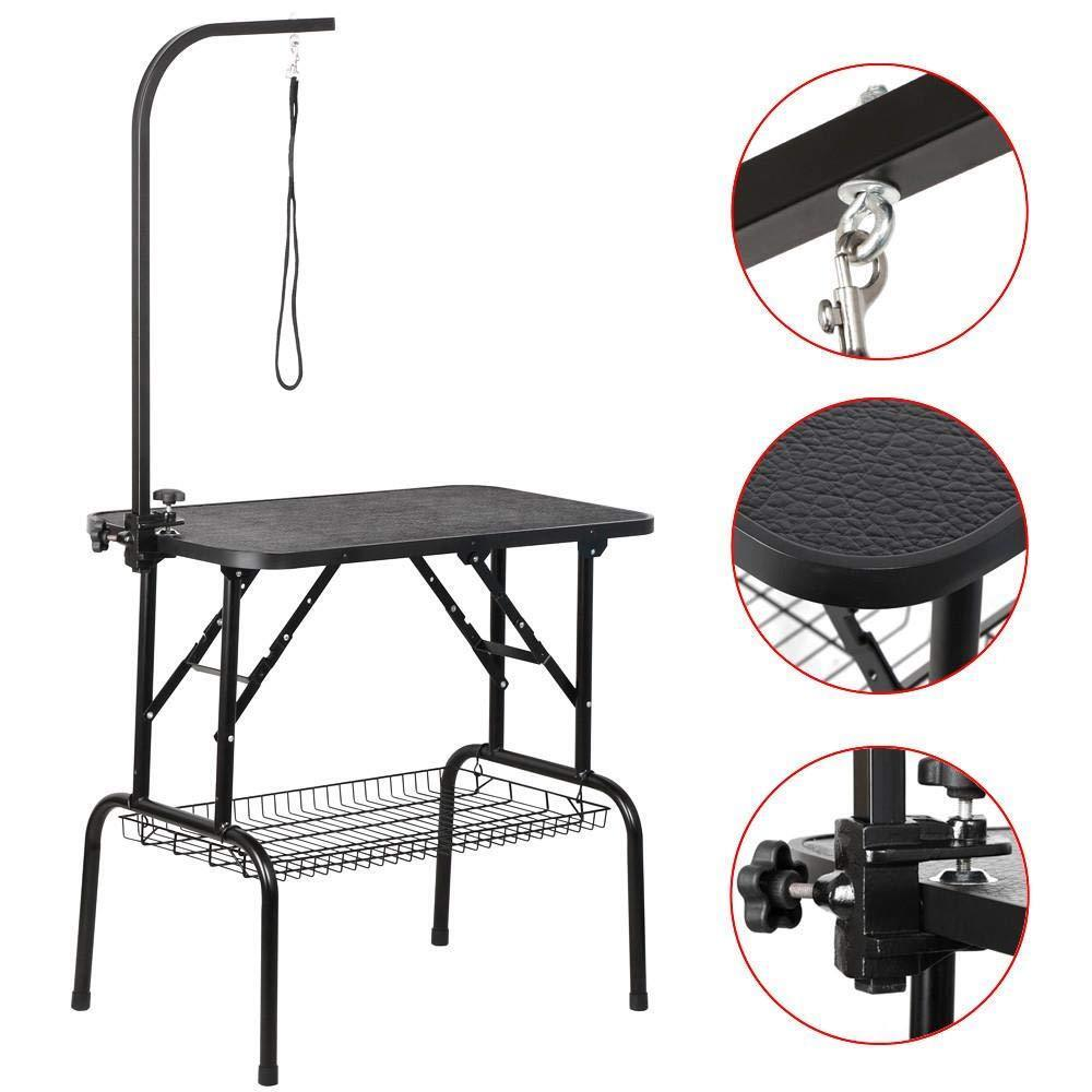 32 Pet Dog Cat Grooming Table for Small Dogs wArm & Noose & Mesh T , Maximum