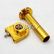 "7/8"" Gold  Motorcycle CNC Accelerator Handle Bar Control Grip Throttle Twist"