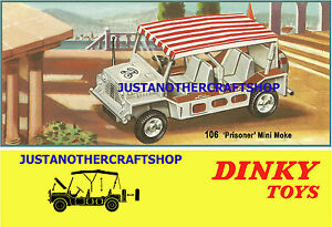 Dinky-Toys-106-The-Prisoner-Mini-Moke-1967-A3-Size-Poster-Advert-Leaflet-Sign