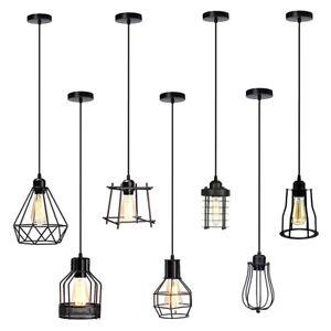 Moderne-plafond-suspendue-cage-de-lumiere-pendentif-lampe-abat-jour-Retro-Industriel-Style-Loft