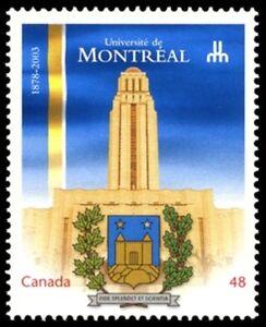 Canada-1977-VF-NH-MONTREAL-UNIVERSITY-New-Pristine-2003-Original-Gum