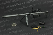 """ZY Toys US BARRETT M107A1 Sniper Rifle Set Black 1/6 Fit for 12"""" Action Figure"""