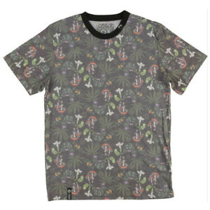 Men-039-s-T-Shirt-2nd-Quality-Missed-Print-Weed-Mushroom-LRG-Alohigh-420-Design