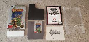 Castlevania NES Hang Tab Box Complete CIB Five 5 Screw 1st Print Overlap Label!