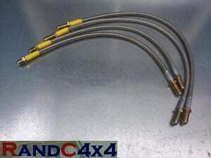014-Land-Rover-Defender-90-110-2-034-40mm-Extended-Brake-Hoses-Stainless-Steel-Set