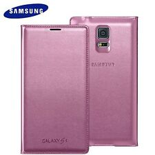 Samsung Galaxy S5 PINK Flip Case GENUINE & ORIGINAL EF-WG900BPEG BOXED 24Hr Post
