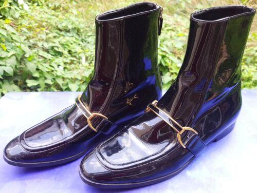 verniciata Pelle 37 Boots 4 Stella Mccartney taglia leggero Eur Faux Zip Black uso Uk wSXxI5vxq