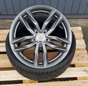 18 Zoll Rs3 Alu Felgen für VW Scirocco R Arteon T-roc Tiguan R-line grau
