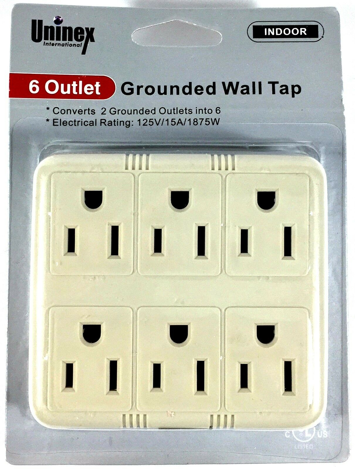 Grounded 3-Way Electric Adapter 3 Outlet AC Wall Plug Triple Power Splitter 6