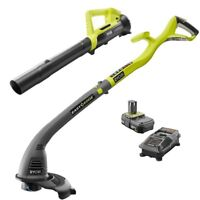 Deals on Ryobi ONE+ 18-V Li-Ion String Trimmer/Edger and Blower Combo Refurb