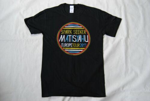 MATISYAHU SPARK SEEKER EUROPE TOUR 2013 T SHIRT NEW OFFICIAL REGGAE RAP RARE