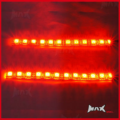 14CM Ultra Bright Red LED Flexible Strips - Brake Lights - High Quality