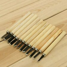12 PCS Wood Carving Working Chisel Carvers BEGINNERS Hand Tool Set Wood Working