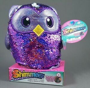 Shimmeez-OLIVER-OWL-BRAND-NEW-8-034-Plush-Toy-Reversible-Sequins