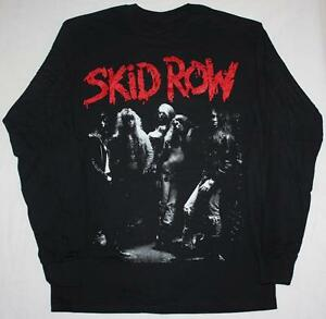 b09b48c28 SKID ROW BAND GLAM ROCK METAL CINDERELLA DOKKEN NEW BLACK LONG ...