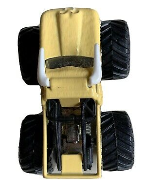 Hot Wheels Bulldozer Guy Wood Monster Truck Yellow Horns E48 Ebay