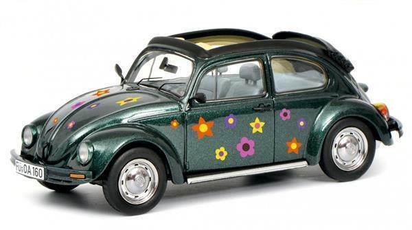 Schuco VW Kaefer Open Air Blumen Green 1:43 450389500