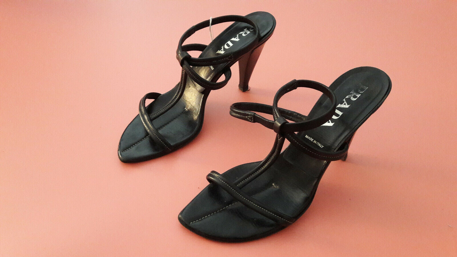 PRADA High Heels - Gr. 40,5  Schwarz Exklusiv   Damenschuhe
