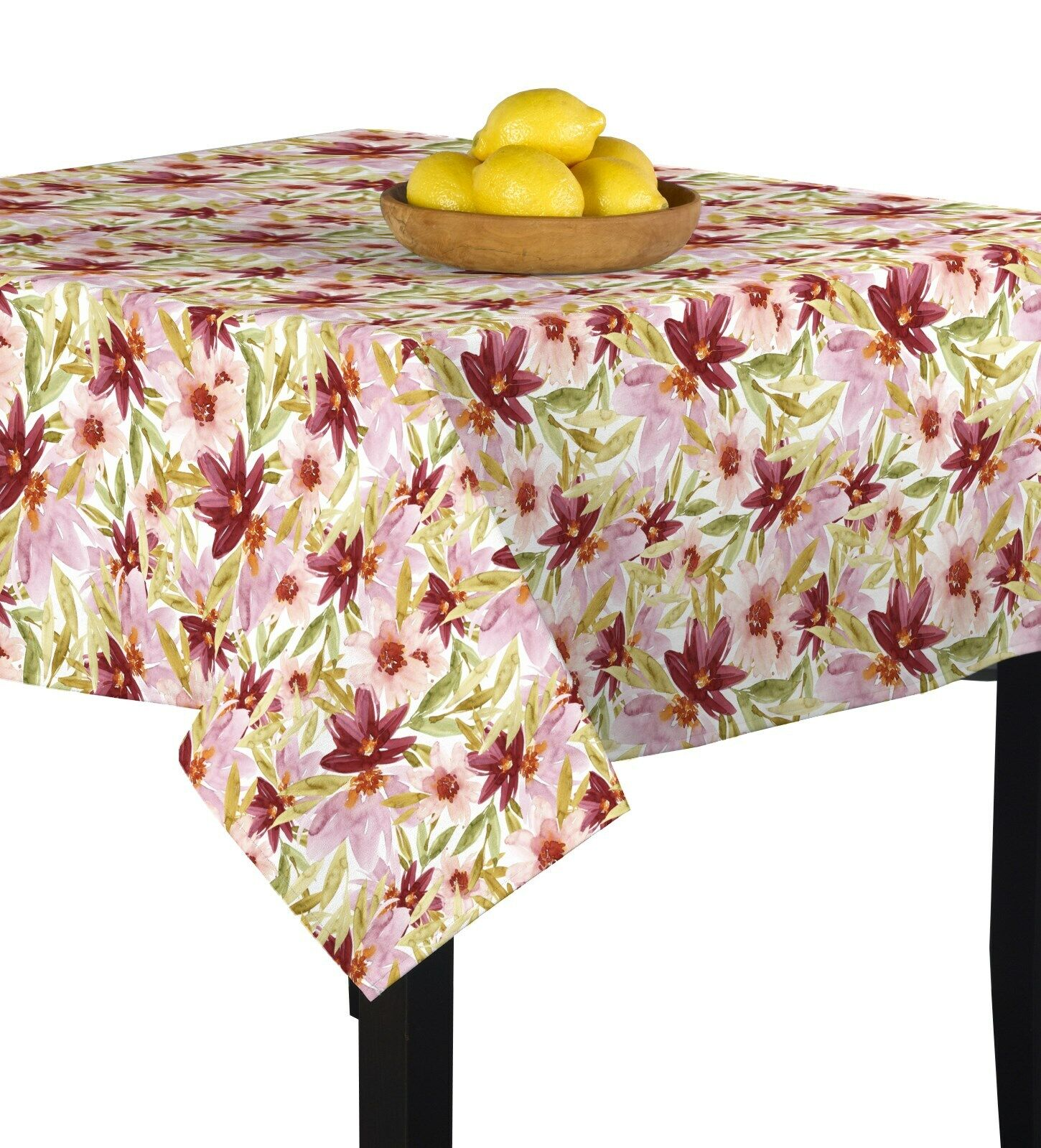 Water Farbe Florals Signature Square Tablecloth Assorted Größes