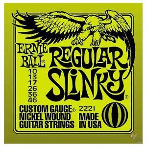 2-SETS-ERNIE-BALL-REGULAR-SLINKY-GUITAR-STRINGS-10-039-s