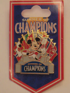 Pins-MICKEY-Summer-Of-Champions-DISNEYLAND-DISNEYWORLD-Disney-Pin-Trading-NEUF