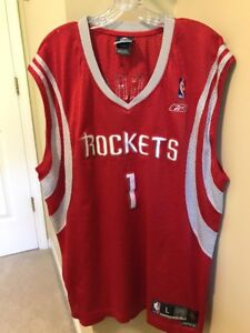 the best attitude e179a 4c283 Details about TRACY MCGRADY HOUSTON ROCKETS JERSEY SIZE L SEWN ON #1 RED  REEBOK NBA BASKETBALL
