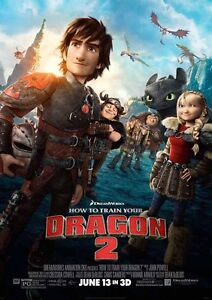 A4 Movie Poster Print A3 How to Train Your Dragon 2