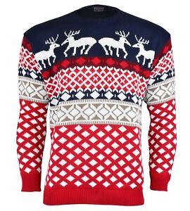 Navidad-Navidad-Unisex-Sueter-Retro-Novedad-Vinatage-Damas-Para-Hombre-Talla-Nuevo
