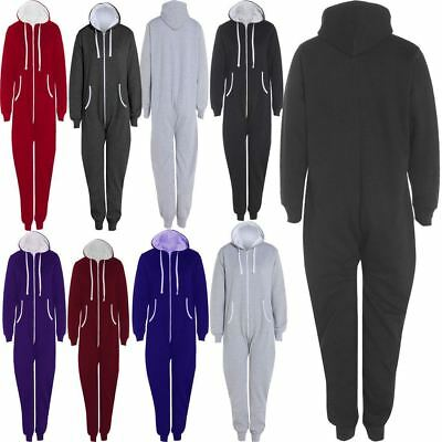 100% Wahr Adults Zip Up Onsie1 Hooded Playsuit Unisex Thermal All In One Sports Jumpsuit