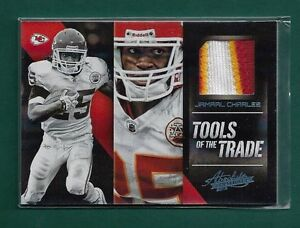 Jamaal-Charles-Patch-50-2012-Panini-Absolute-034-Tools-of-the-Trade-034-26-175