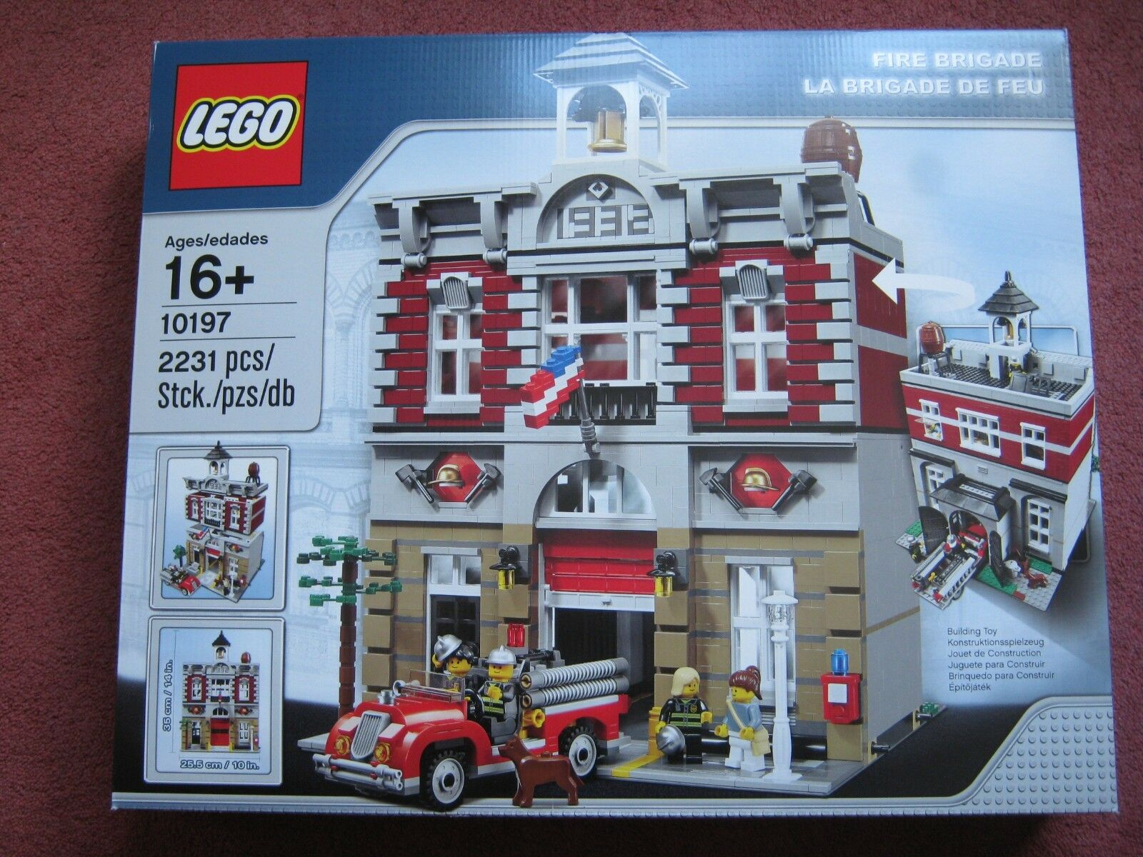 Lego 10197 Fire Brigade Créateur ADVANCED ADVANCED ADVANCED MODULAR Neuf Scellé Box Set-achat immédiat dd5365