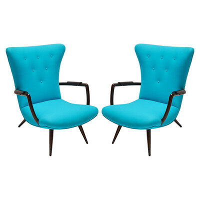 Pair of Brazilian Paulistana Armchairs in the Style of Scapinelli