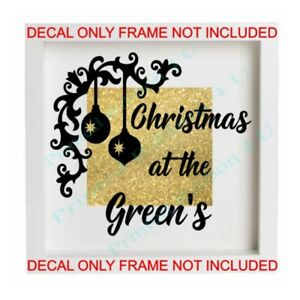 Christmas Vinyl Decals For Glass Blocks.Details About Personalised Christmas At The Vinyl Box Frame Glass Block Decal Sticker