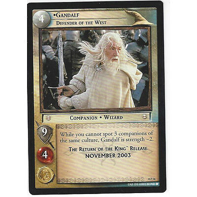 CCG 26 Lord of the Rings / Hobbit Promo 0P26 Gandalf, Defender of the West