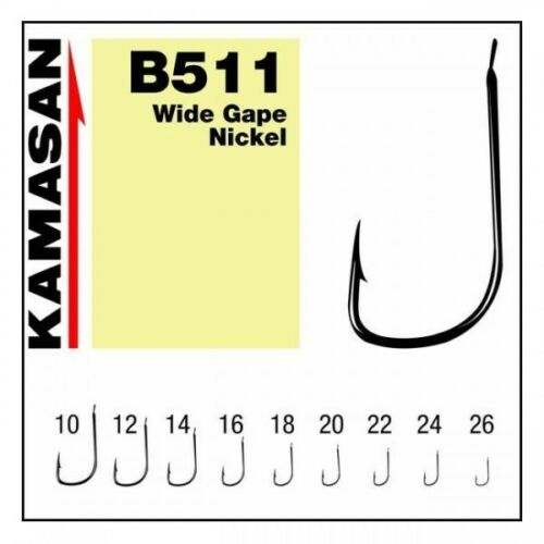 KAMASAN B511 BARBED SPADE END FINE MATCH//POLE HOOK VARIOUS SIZES /& PACKETS