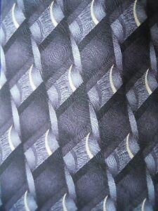 Hill-amp-Archer-Tie-Black-Grey-Patterned-Woven-Print-Mens-Necktie