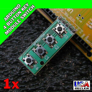 United Keypad 4 Button Key Module Switch Keyboard For Uno Mega2560 Breadboard For Arduino Audio & Video Replacement Parts