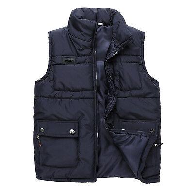 Men's Winter Waistcoat Down Cotton Warm Vest Sleeveless Casual Jacket Outwear