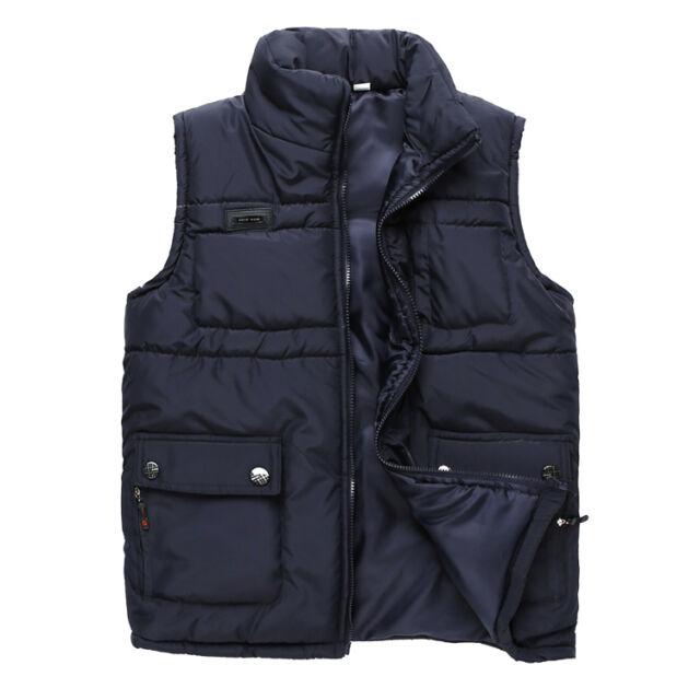 Winter Men's New Waistcoat Casual Down Cotton Vest  Fashion Jacket Coat WM0002