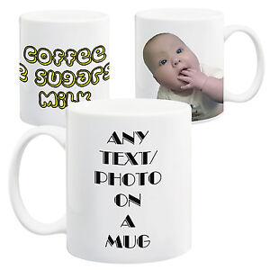 Personalised-Photo-amp-Text-White-11oz-Mug-Custom-Design