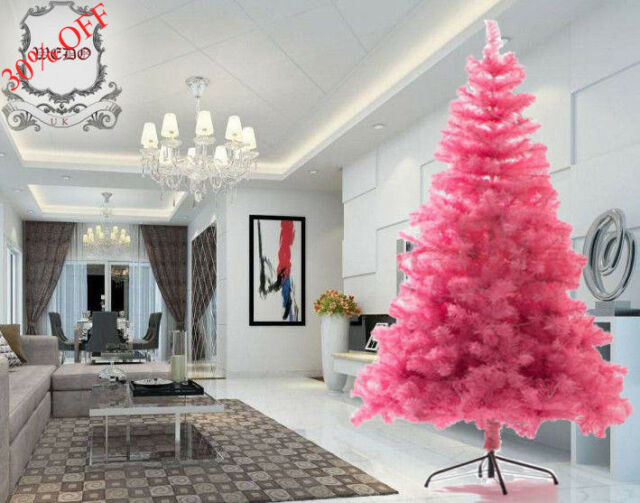 Pink Artificial Christmas Tree.Xmas Sale 1 8m 6ft Luxury Decoration Pink Artificial Christmas Tree Xmas Pvc