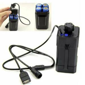 Wasserdicht-8-4V-Akkupack-fuer-Fahrradlampe-18650-Batterien-USB-Batteriegehaeuse