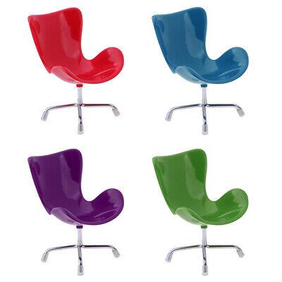 Mini Tulip Chair Furniture Dolls Blythe BJD Dollhouse Miniatures 1:6 Black Red