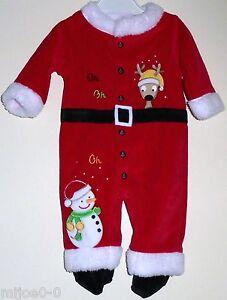 00c6fca3694ea Pyjama Oh-Oh-Oh (PETIT RENNE-BONHOMME DE NEIGE) Bébé 3 Mois NEUF