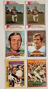 LOT-OF-6-BOB-GRIESE-TOPPS-FOOTBALL-CARDS-1972-1973-1975-1980-132-295-100-35