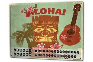 Calendario-perpetuo-Trotamundos-Hawai-Aloha-Metal-Imantado
